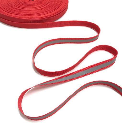 Reflektor-Ripsband in rot, 3m