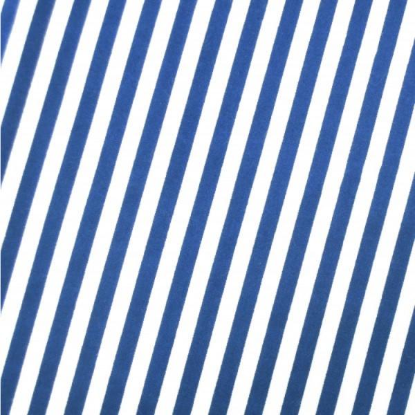 Baumwollwebware, Streifen royalblau-weiß