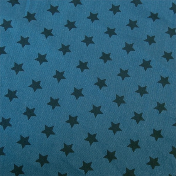 Sterne 1,5cm mittelblau/ dunkelblau