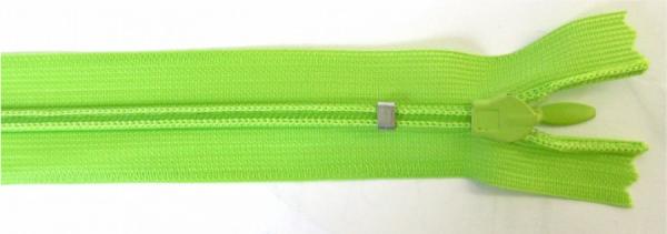 nahtverdeckter Reißverschluss, 25cm, verstellbar, limettengrün