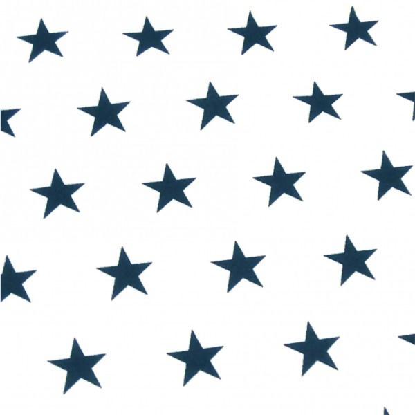 Sterne, ca.2cm, weiß-dunkelblau