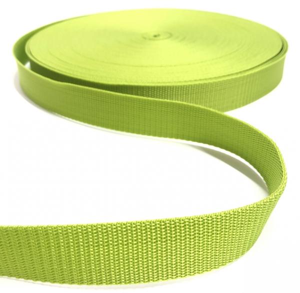 Gurtband Polypropylen hellgrün, 25mm breit