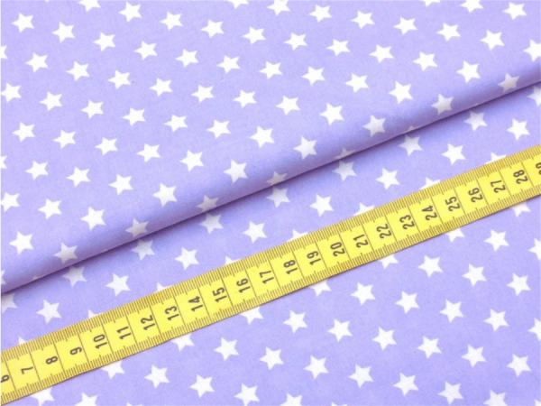 2 Größen Sterne: flieder-weiß