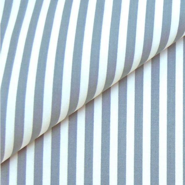 Baumwollwebware, Streifen hellgrau-weiß