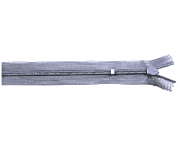 nahtverdeckter Reißverschluss, 25cm, verstellbar, hellgrau