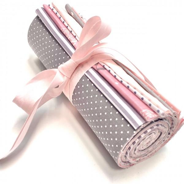 Jelly Roll Rosa-Grau-BIG, 20 cm breit