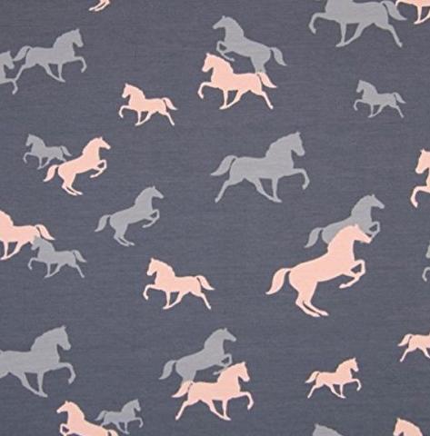 Jersey Pferde grau-rosa