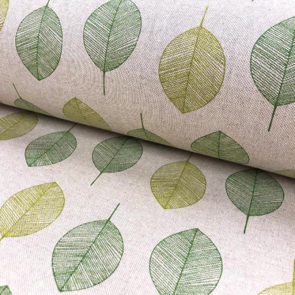 Canvas Leinenoptik Blätter