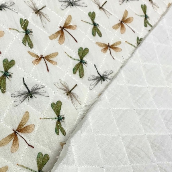 Stepper Libellen auf weiß 70%BW 30%PL