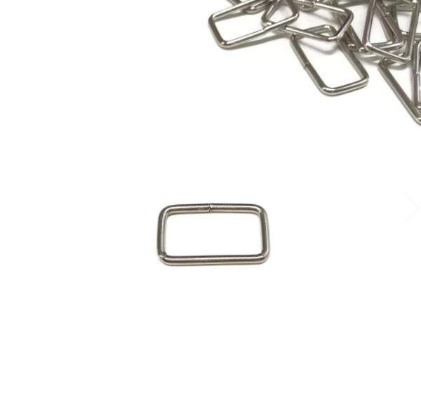 Vierkantring 25mm, silbern