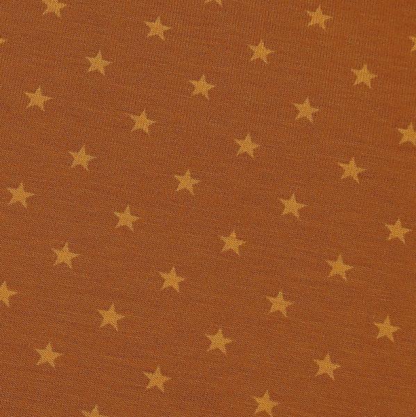 Jersey Mini-Sterne ocker-senf