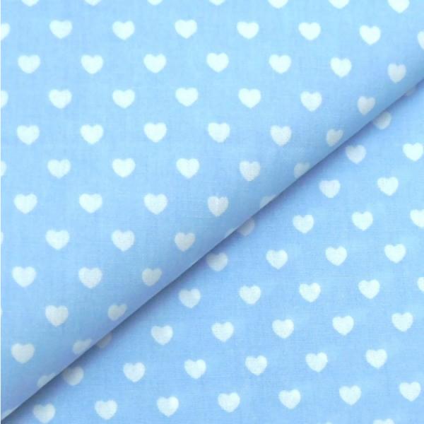 Herzen hellblau-weiß