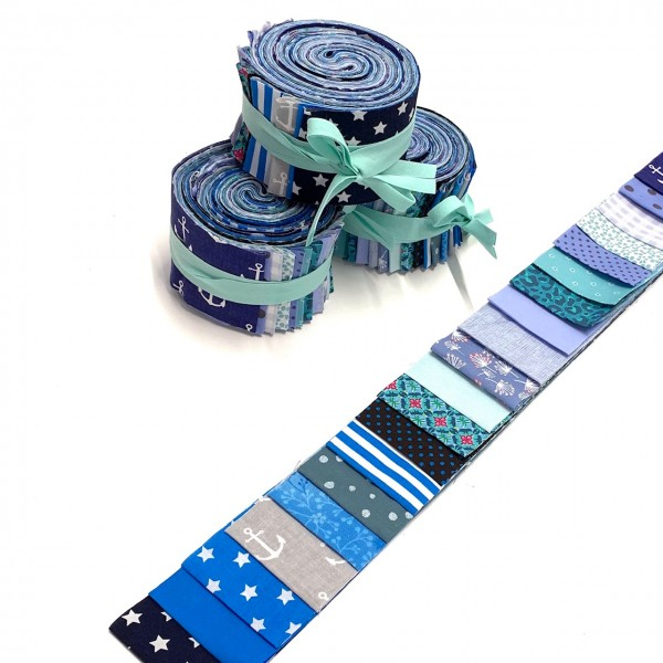 Jelly Roll Sea-Breeze (blau), ca 6,5cm breit