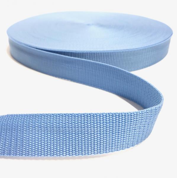Gurtband Polypropylen hellblau, 30mm breit