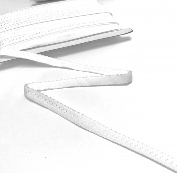 Elastisches Einfassband, Wäschegummi, weiß