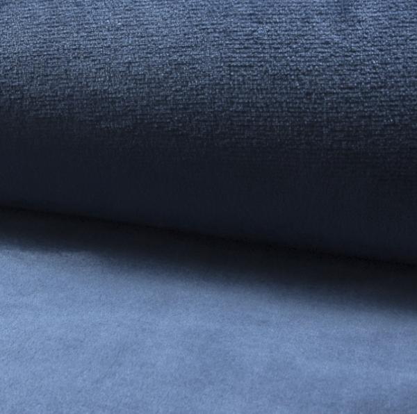 Microfleece uni jeansblau