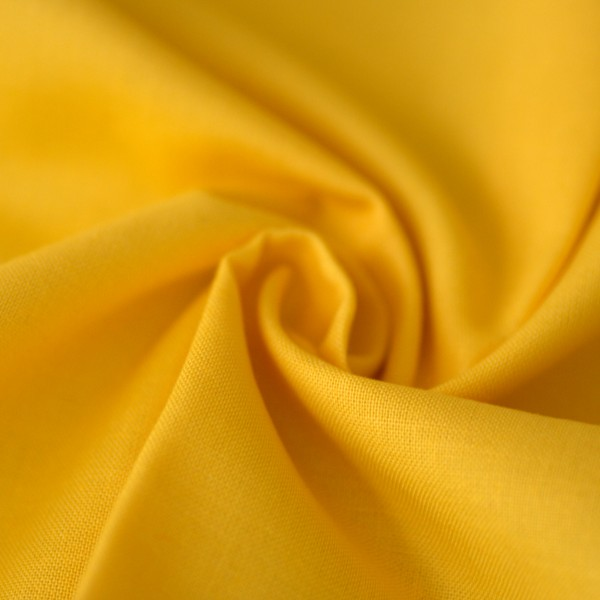 Uni-Baumwollstoff gelb