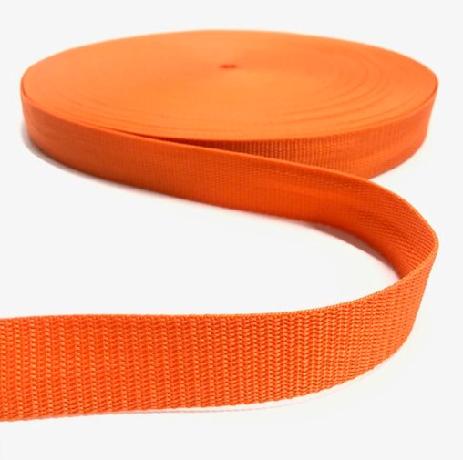 Gurtband Polypropylen orange, 30mm breit