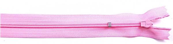 nahtverdeckter Reißverschluss, 25cm, verstellbar, rosa