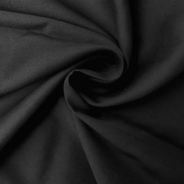 Uni-Baumwollstoff schwarz