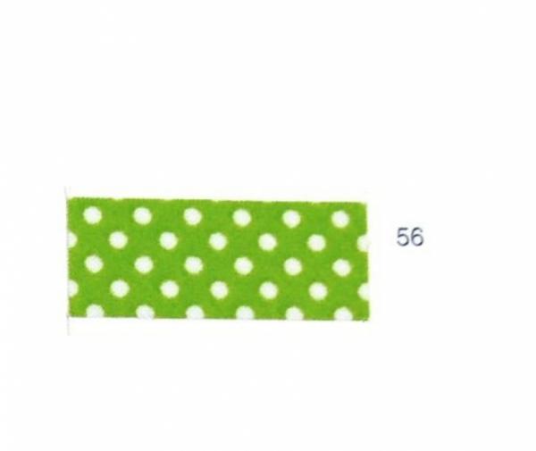 5m Schrägband Punkte hellgrün (56)