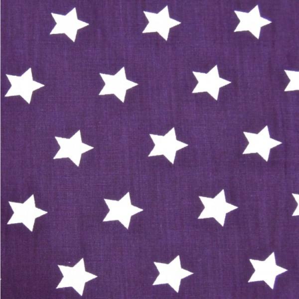 2 Größen Sterne: violett-weiß