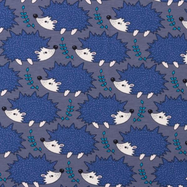 Jersey kleiner Igel grau-blau