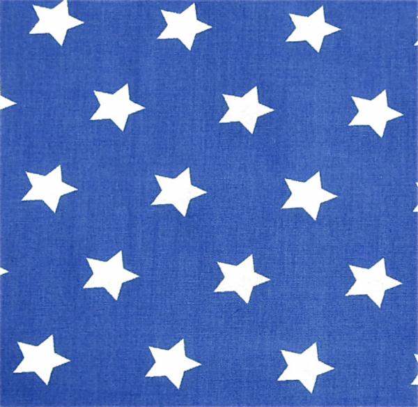 2 Größen Sterne: royalblau-weiß