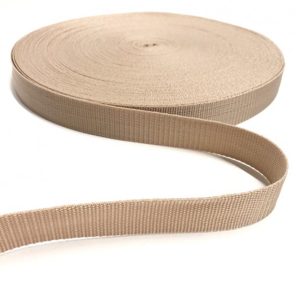 Gurtband Polypropylen beige, 30mm breit