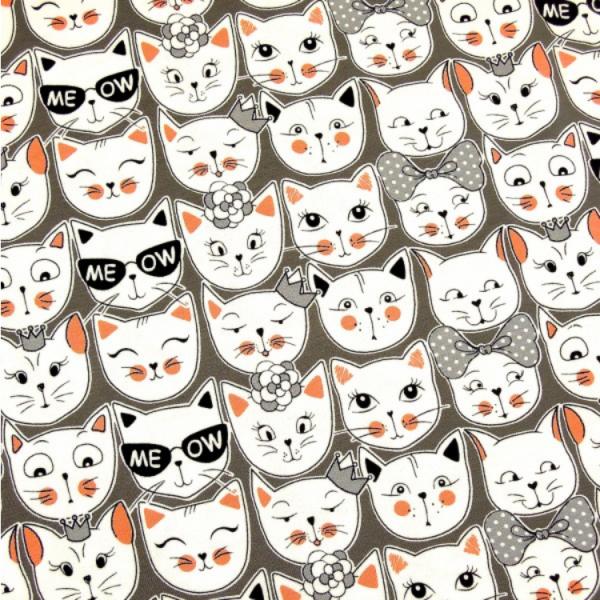 Jersey Katzen ME OW! grau-weiß