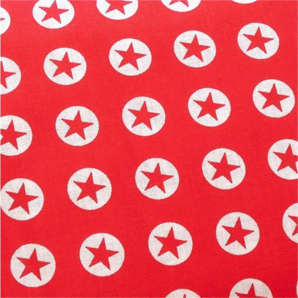 Stern-Button, rot-weiß