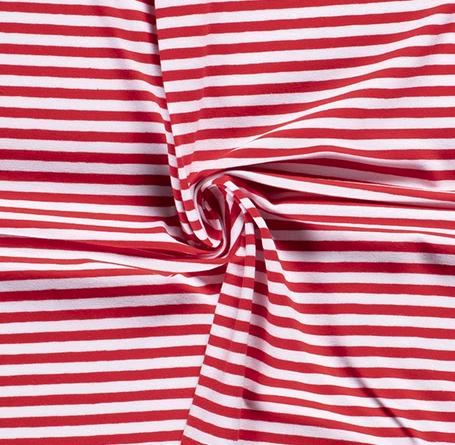 Jersey Ringel 5mm rot-weiß 015