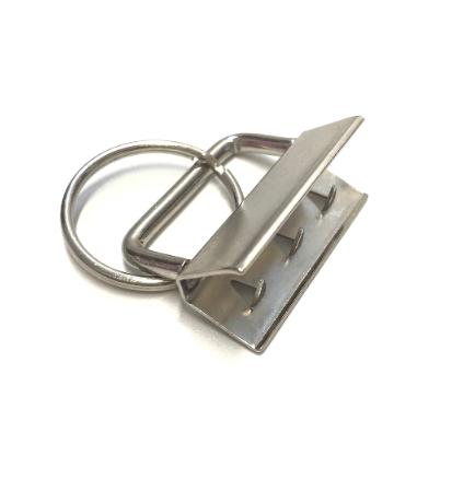 Schlüsselbandrohling für 30mmm Gurtband, silber