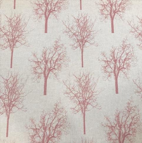 Canvas Leinenoptik magenta Bäume