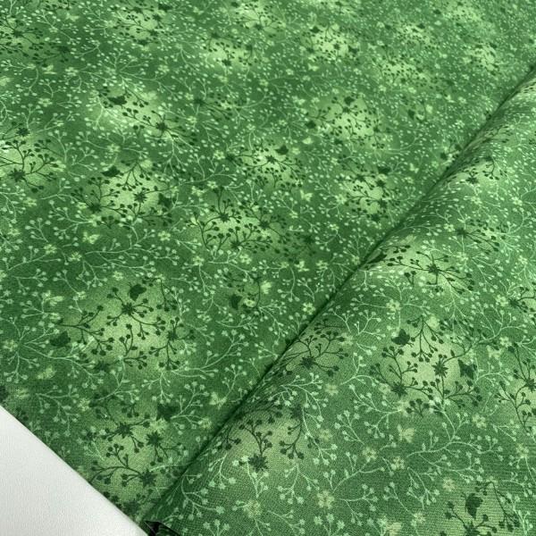 Zweige und Schmetterling dunkelgrün 100% BW