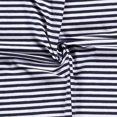 Jersey Ringel 5mm dunkelblau-weiß 008