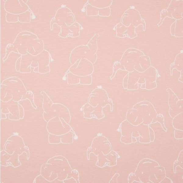 Jersey Elefanten zartrosa Motivgröße ca. 10cm