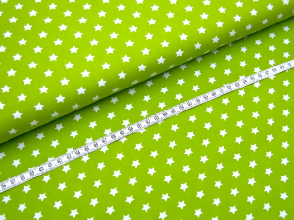 2 Größen Sterne: hellgrün-weiß