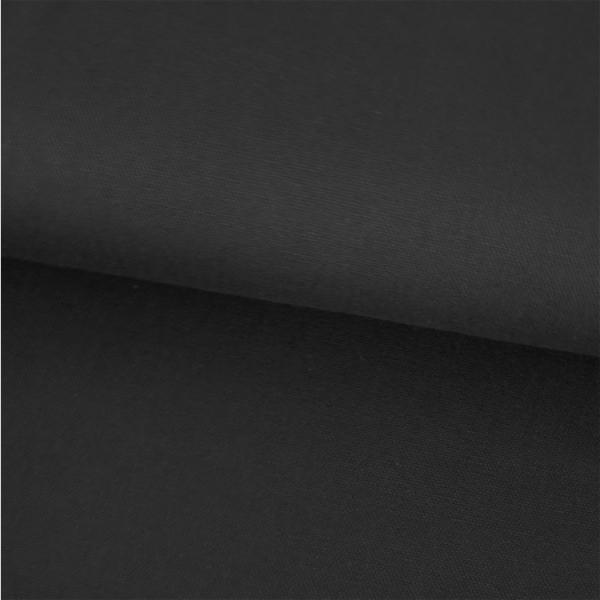 Canvas Baumwolle uni schwarz