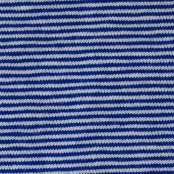 Bündchen Mini-Streifen royalblau