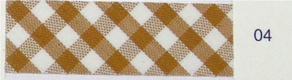 5m Schrägband Vichy-Karo 2mm beige (04)