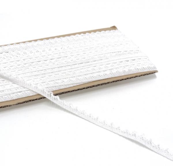 Häkelspitzenborte weiß 18mm breit