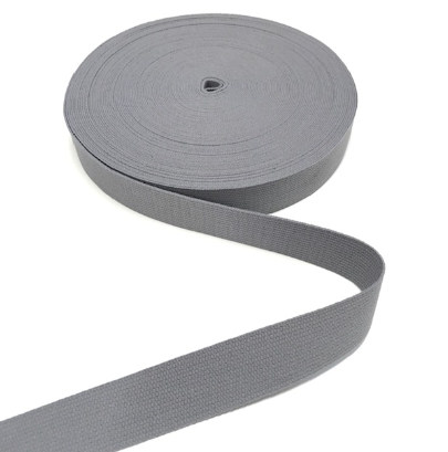 Gurtband BW grau, 30mm breit
