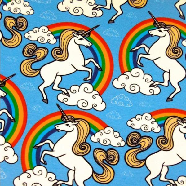 Jersey Einhörner & Regenbogen blau