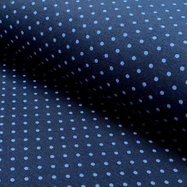 Jersey Punkte dunkelblau-mittelblau 108 Motivgröße Punkt ca. 3mm