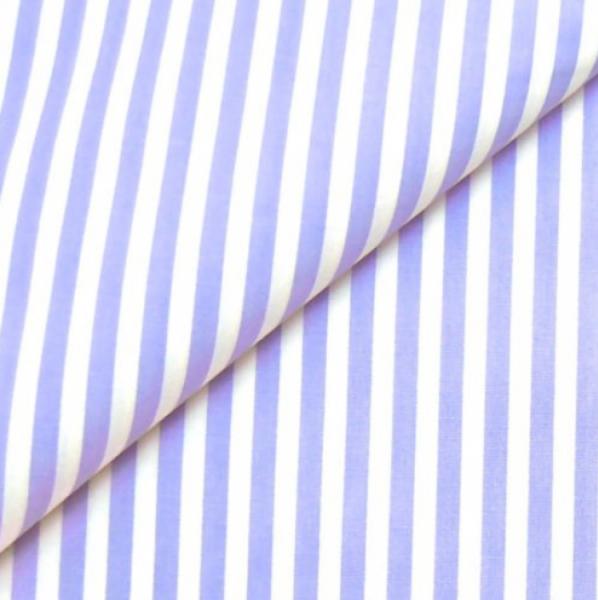 Baumwollwebware, Streifen flieder-weiß