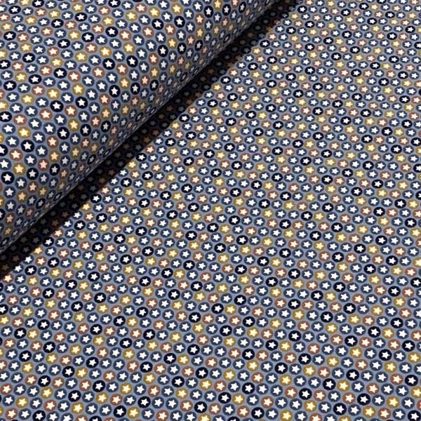 Jersey Mini Sterne im Kreis blau