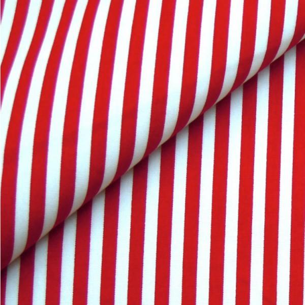 Baumwollwebware, Streifen rot-weiß