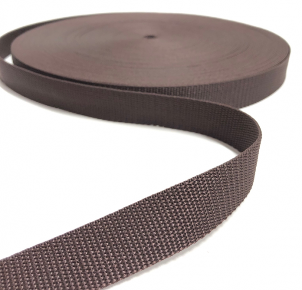 Gurtband Polypropylen braun, 25mm breit