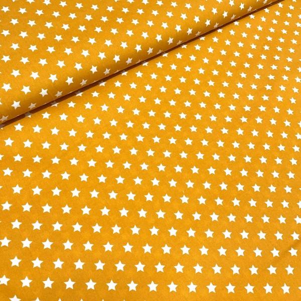 Sterne klein senf-weiß 100% BW